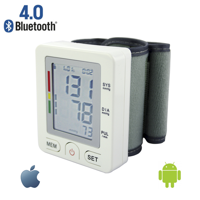 Blue Tooth Wrist Digital Blood Pressure Monitor